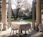 Esterno con vista sul bel giardino di Casa Trivulzio
