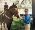 Conrad Bandoroff on a pony