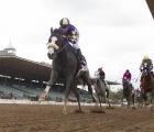 Honor A. P. (Honor Code) dominating winner of GI Runhappy Santa Anita Derby USA, 06 06 2020.