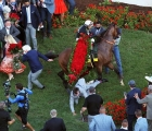 Authentic wheels in the Kentucky Derby winner's circle, USA, 06 09 2020