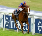 Horse Racing - Derby Festival - Epsom Downs Racecourse, Epsom, Britain - July 4, 2020  Love ridden by Ryan Moore wins the Investec Oaks, as racing resumed behind closed doors after the outbreak of the coronavirus disease (COVID-19)