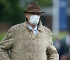 John Gosden at Ascot on Saturday prior to Enable's King George victory, UK 25 luglio 2020
