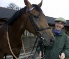 MARCUS TREGONING, TRAINER AT KINGWOOD HOUSE, LAMBOURN,BERKS. SEEN WITH 2YR OLD NAYEF.