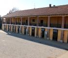 I box delle fattrici nella corte dell'Az.Agricola Razza Ticino